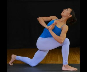 Aria Morgan in Parivrtta Anjaneyasana Revolved Twisting Lunge