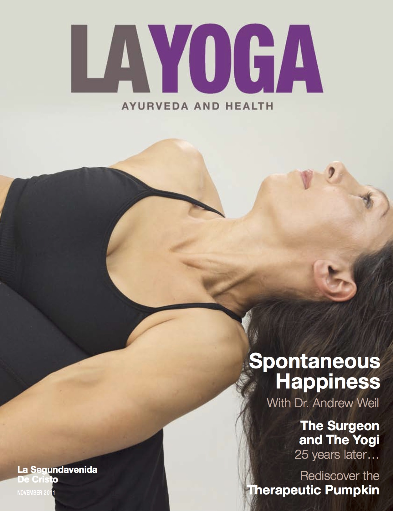 LA Yoga Magazine Cover Aria Morgan
