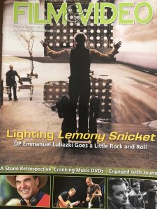 Plotting Lemony Snicket for Film and Video Magazine