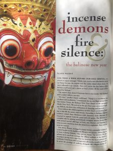 Incense demons fire silence: LA Yoga